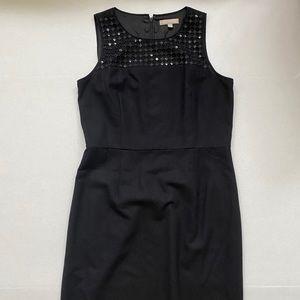 Banana Republic Black Sequin A Line Black Dress 12